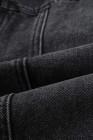 جاكيت جينز بجيب بلون رمادي