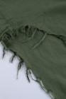 فستان قميص أخضر بأكمام طويلة