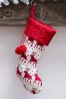 الأبيض بومبوم عيد الميلاد شنقا ديكور جورب