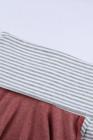 رمادي الطربوش الرقبة شريط لصق عارضة طويلة الأكمام الأعلى