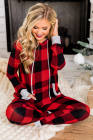 الأحمر منقوشة جيب الرباط مجموعات صالة عيد الميلاد مقنعين
