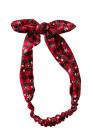 أسود أحمر منقوشة عيد الميلاد طباعة Bowknot عقال