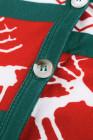 عيد الميلاد الأخضر عنصر طباعة كارديجان طويل