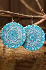 Vaaleansiniset vintage-geometriset Mandala Paisley -korvakorut