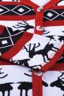 أحمر عيد الميلاد عنصر طباعة كارديجان طويل