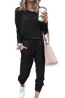 طقم ملابس رياضية من قطعتين بطبعة نجمة سوداء