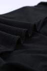 أسود رقبة مستديرة طباعة ليوبارد توب ترتر كم طويل