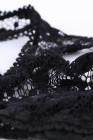 Juego de bralette de talla grande y busto hueco negro
