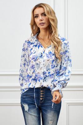Blusa con estampado floral de Cakewalk azul