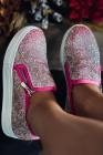 حذاء روز حجر الراين