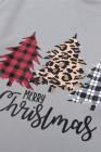 ليوبارد الربط منقوشة شجرة عيد الميلاد طباعة البلوز
