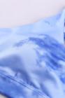 طقم حمالة صدر رياضية وبنطلون ضيق باللون الأزرق السماوي