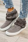 حذاء رياضي كاكي محبب برقبة عالية