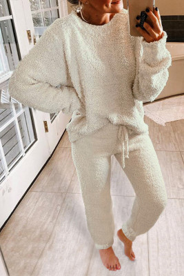 Ensemble pyjama blanc moelleux
