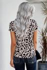 Camiseta con estampado de leopardo salvaje