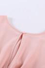 الوردي ثقب المفتاح عودة مربوط Peplum بنات رومبير