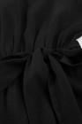 ثقب المفتاح الأسود الظهر مربوط Peplum بنات رومبير