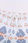 طقم صالة تي شيرت بأكمام قصيرة وطبعة جلد الفهد من Aztec وشورت برباط