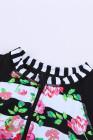 Maillot de bain une pièce à rayures florales et patchwork