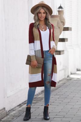 Pletený lehký svetr s víčkovým blokem s oky