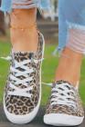حذاء ليوبارد برباط من القماش