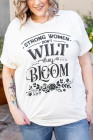 Camiseta de talla grande Bloom Grapic para mujer fuerte