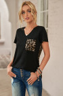 Camiseta con estampado de leopardo