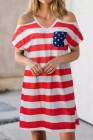 فستان للسيدات العلم الأمريكي