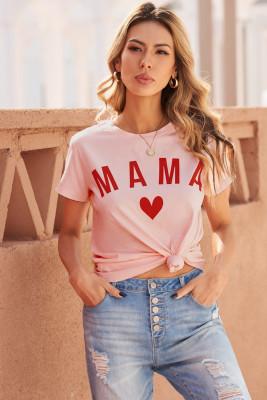 Camiseta con estampado de letras MAMA