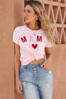 Camiseta a juego rosa MAMA