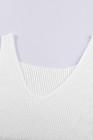 Vícebarevná pruhy bílé pletené tílko
