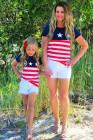 عيد الاستقلال المطابق للأسرة للأطفال في 4 يوليو