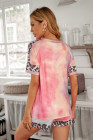 Ensemble de vêtements d'intérieur léopard tie-dye