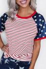 Camiseta con estampado de bandera de rayas y estrellas
