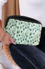 حقيبة تخزين لغسيل مستحضرات التجميل بطبعات الصبار