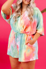 Mameluco de talla grande con efecto tie dye multicolor