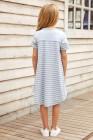 فستان أطفال بأكمام قصيرة