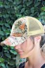 أزياء المرأة الترتر شبكة الربط قابل للتعديل قبعة بيسبول