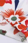 Minivestido floral empalmado de encaje blanco