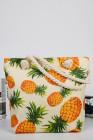 حقيبة قماش محمولة بكتف واحد بطبعة الأناناس
