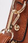 حقيبة هوبو من الجلد الصناعي باللون البني
