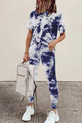 أزرق تي شيرت و Sweatpants ملابس رياضية