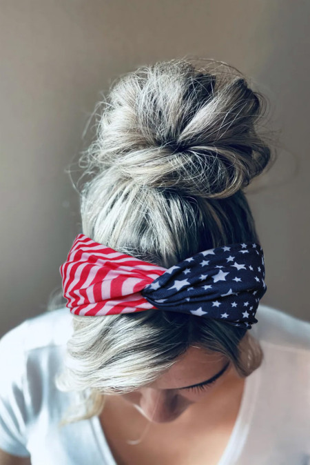Повязка на голову с американским флагом