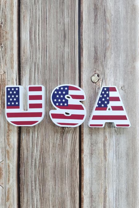 Флаг Шаблон США Модель Стены Двери Домашнего Декора