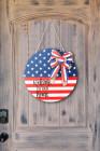 Декоративная табличка с американским флагом на двери, подвесной орнамент
