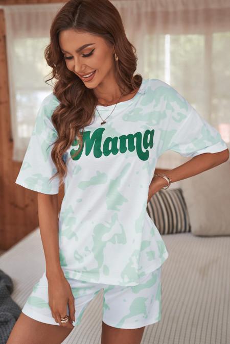 طقم صالة طباعة Mama Tie-dye