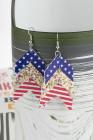 Пятиконечные серьги со звездным флагом, расшитые пайетками, Супер блестящие серьги