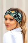 ربطة رأس يوجا رياضية مطبوعة بالنباتات الاستوائية