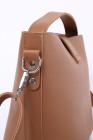 حقيبة ماسنجر كاجوال جلد نباتية بنية اللون