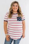 Camiseta de rayas y estrellas de talla grande